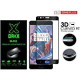 DRaX OnePlus 3T / 1+3 / Oneplus 3 / One plus 3 Full Edge To Edge Cover BLACK Curved Tempered Glass Screen Protector