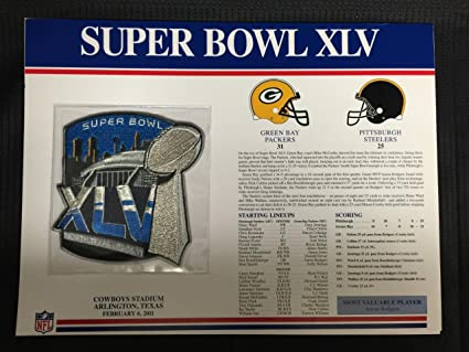 New nfl super bowl xxxi 31 patch green bay packers patriots favre.
