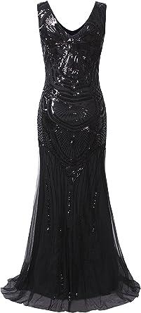 Vijiv damska sukienka wieczorowa w stylu lat 20.: Odzież