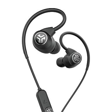 JLab Audio Epic deporte inalámbrico auriculares – Negro – Estilo de vida activo 12 horas Duración