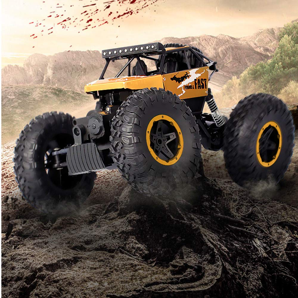 Cherry RC Car 2.4Ghz 4WD Rock Crawlers Remote Racing Truck Toy 1:16 Rechargeable Off-Road Vehicle High Speed RC Buggy Race, Gift for Kids and Adults
