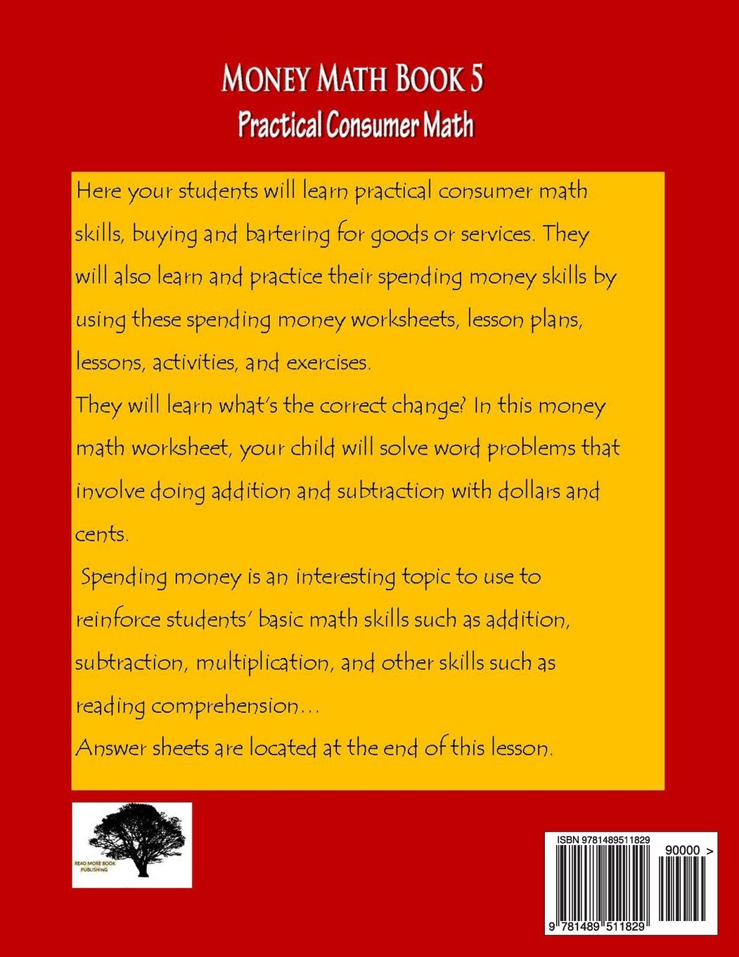 worksheet Practical Money Skills Worksheets money math book 5 practical consumer marilyn more 9781489511829 amazon com books