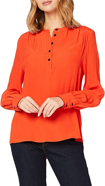 Tommy Hilfiger Allyn Pop Over LS Blouse Camisa para Mujer