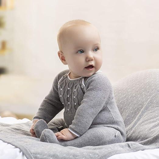 Tutto Piccolo Pelele para Bebé Tricot de Punto Manga Larga Niño Niña Invierno Algodón Tallas 0-24 Meses 5700HW18, Color Gris: Amazon.es: Ropa y accesorios