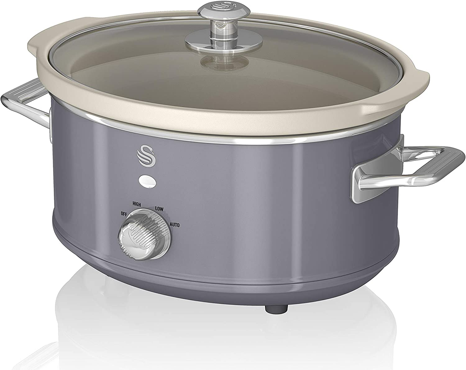 Swan SF17021GRN 3.5L Blue Slow Cooker, Gray