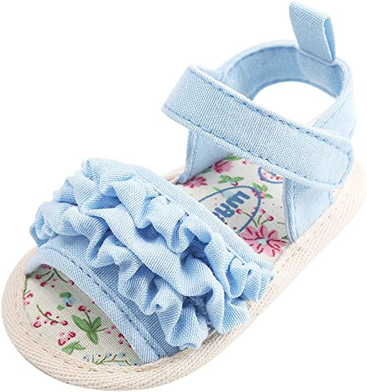 Casual Soft Infant GIRLS Baby Prewalkers Sole Anti-slip Floral Princess