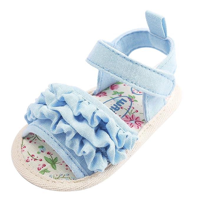 Amazon.com: Bebé Niña Zapatos Miuye Bebé Flor Sandalias ...