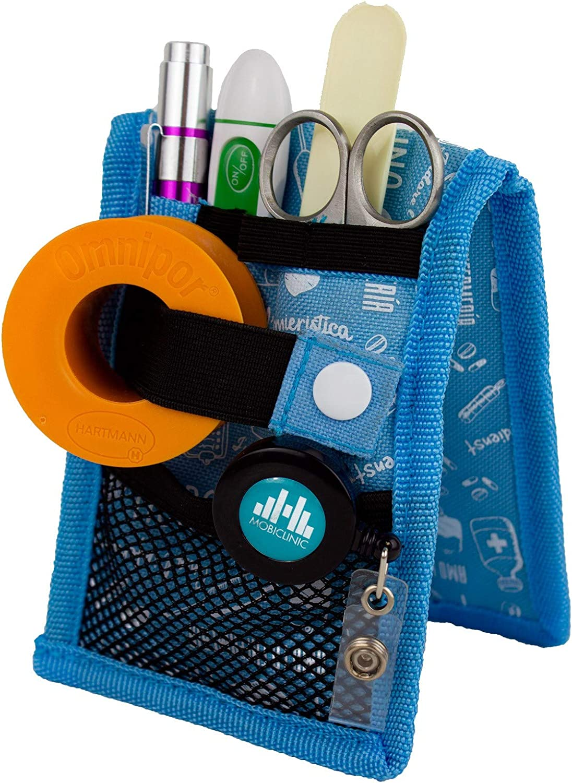MINIKEEN'S, Salvabolsillos enfermera, Estampado azul, Mobiclinic