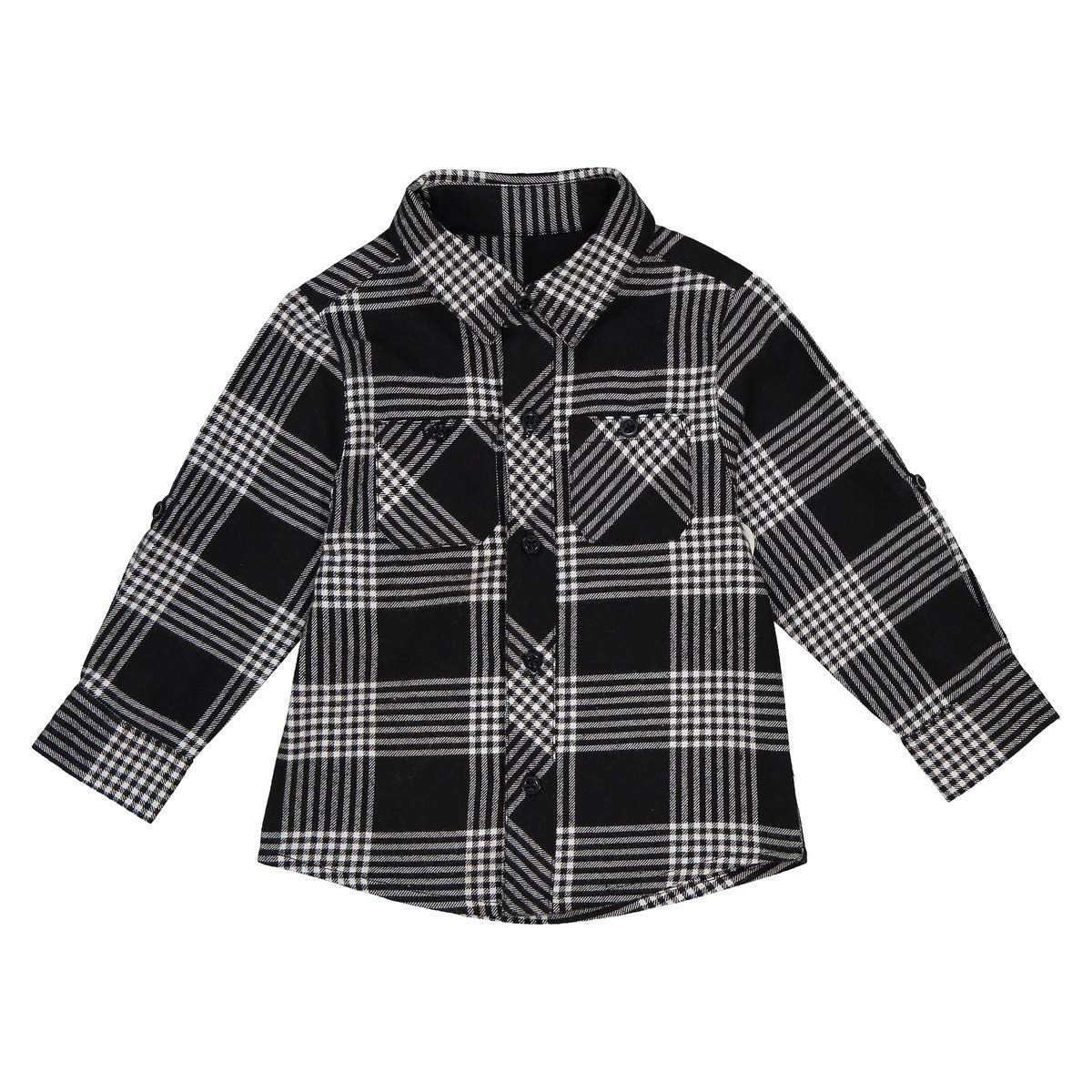 La Redoute Collections Big Boys Long-Sleeved Checked Shirt 1 Month-3 Years