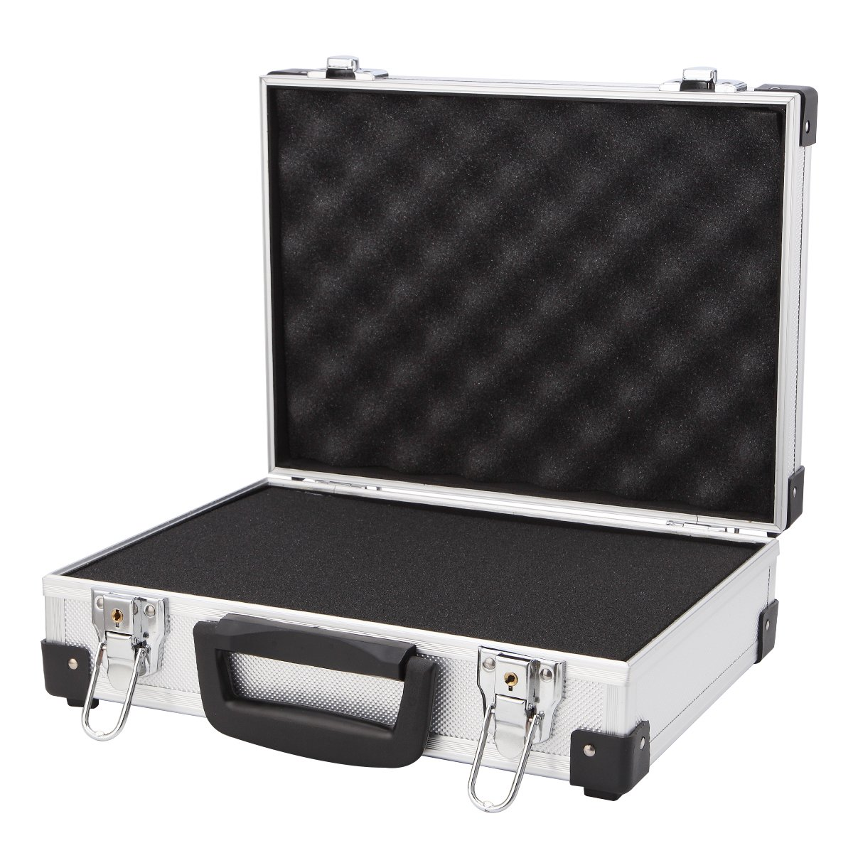 Professional Aluminum Hard Hand Gun Cases Office File Briefcase Outdoor Travel Flight Cases Home Tool Boxes with Quick Locks