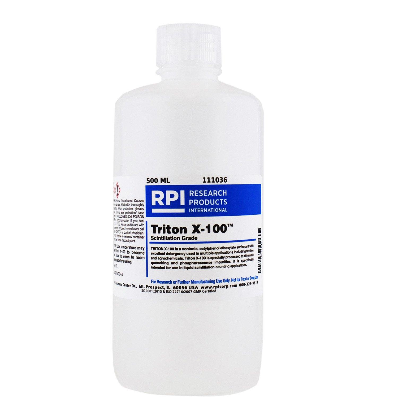RPI Triton X-100, Scintillation Grade Liquid Surfactant, 500 milliliter Bottle