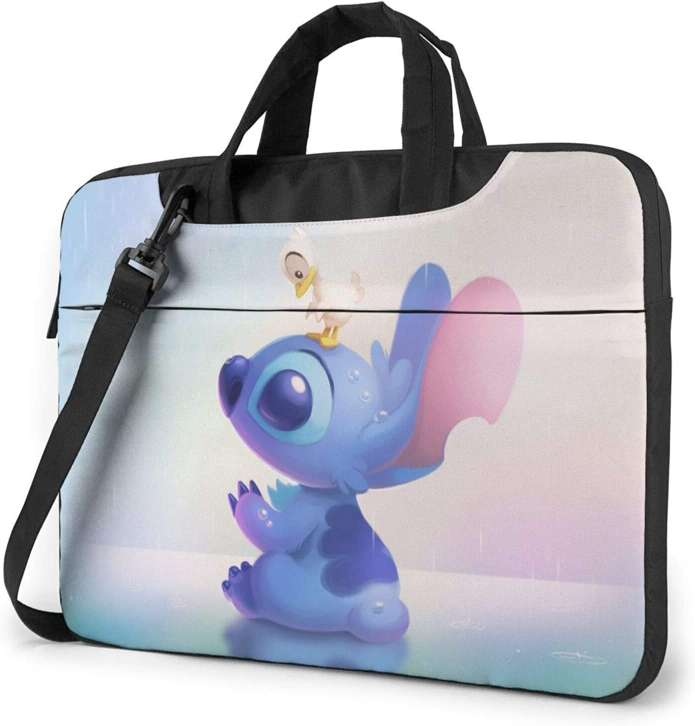 Li-Lo and Sti-Tch 13-15.6 Inch Laptop Sleeve Case Laptop Shoulder Bag, Slim Computer Carry Case with Strap - Shakeproof Waterproof