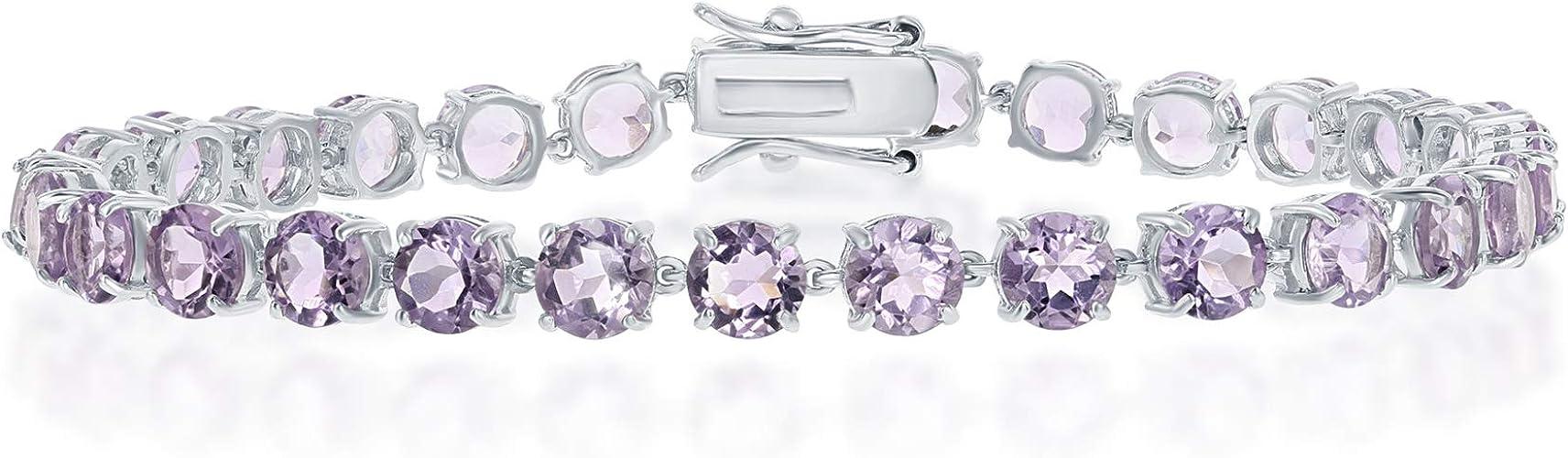 925 STERLING SILVER LADIES OPEN HEART ITALIAN BRACELET W// 2.50 CT DIAMONDS//7.5/'/'