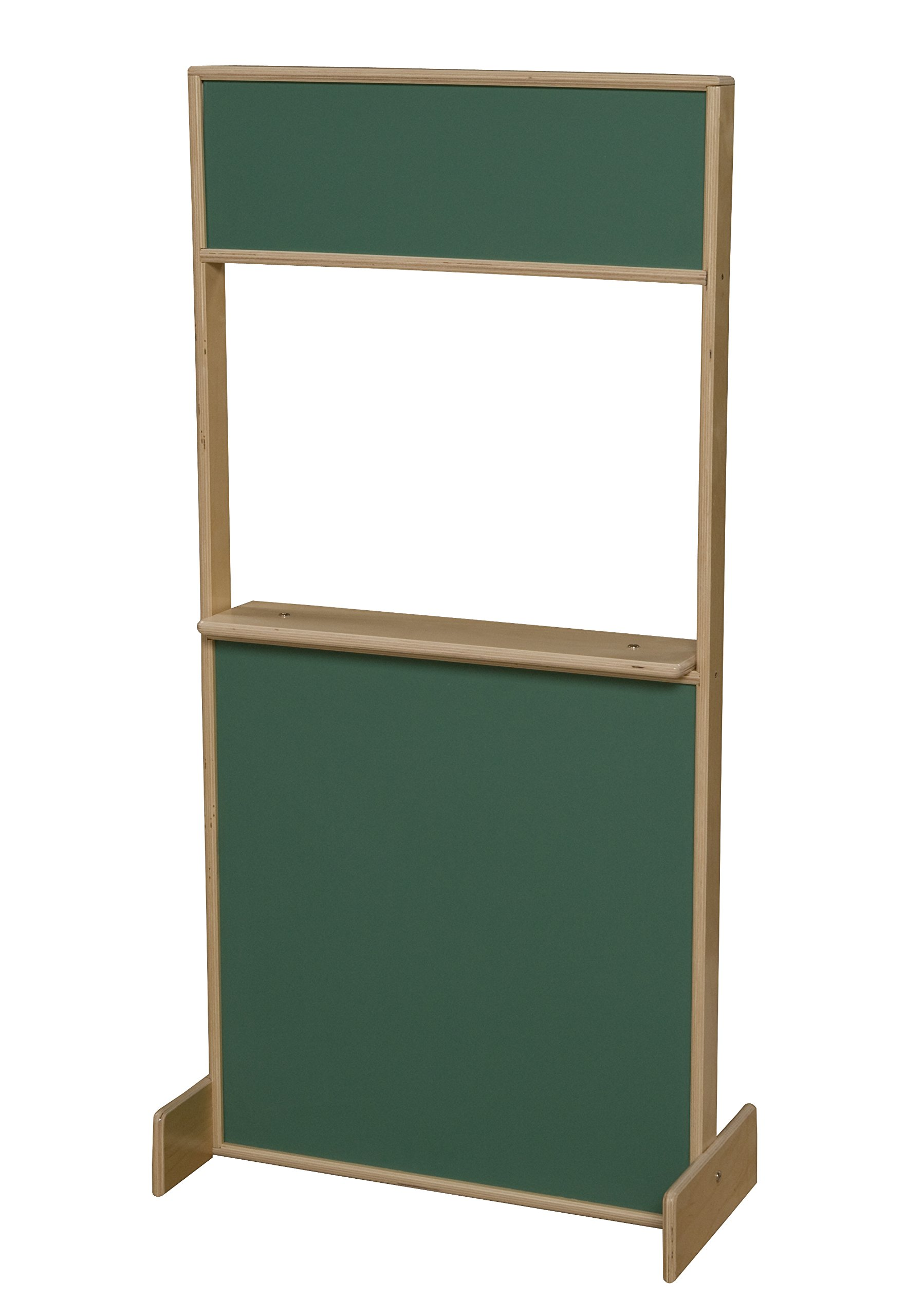 Wood Designs WD21600 Puppet Play Stage, Chalkboards, 48 x 24 x 3'' (H x W x D) by Wood Designs