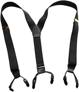 product image for HoldUp Suspender Company new Black Pack dual clip Double-Up Style Suspenders with black patented no-slip clips
