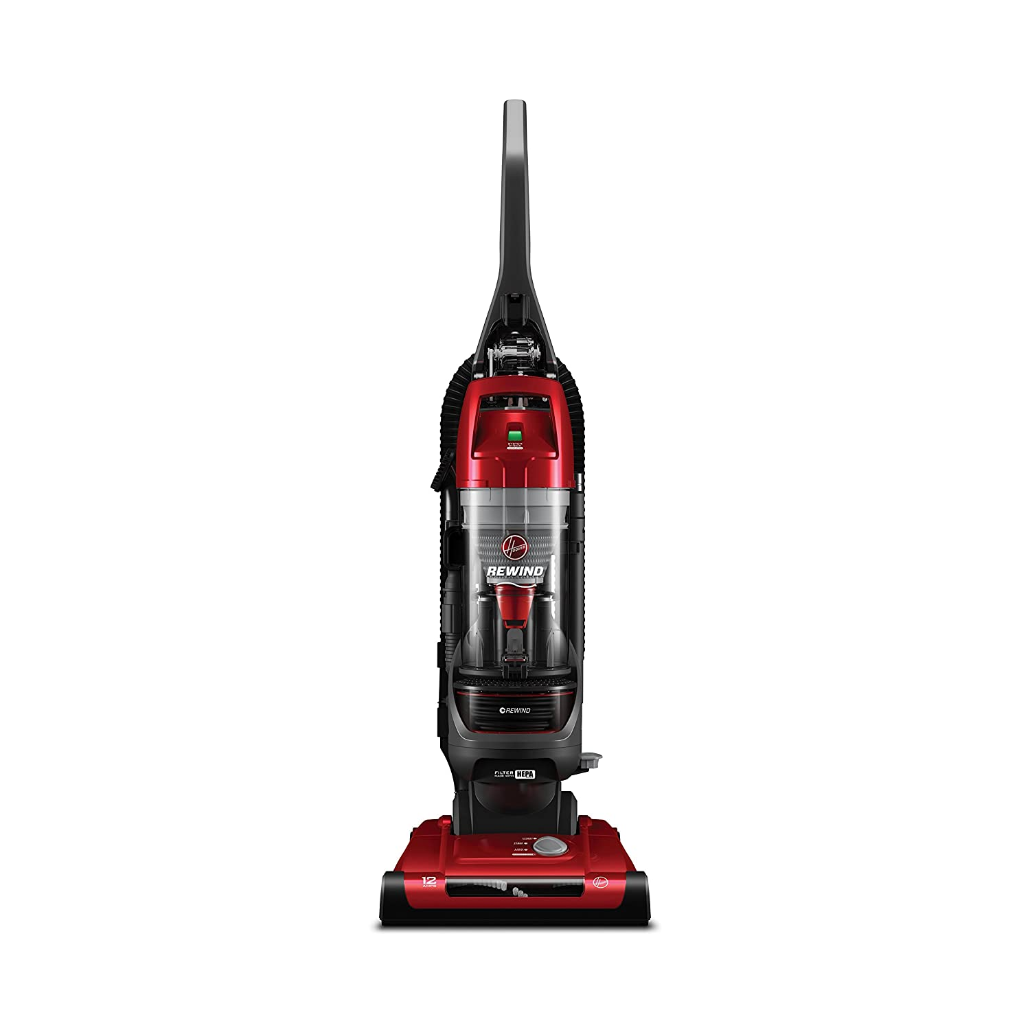 Hoover Elite Rewind Bagless Upright Vacuum, UH71012