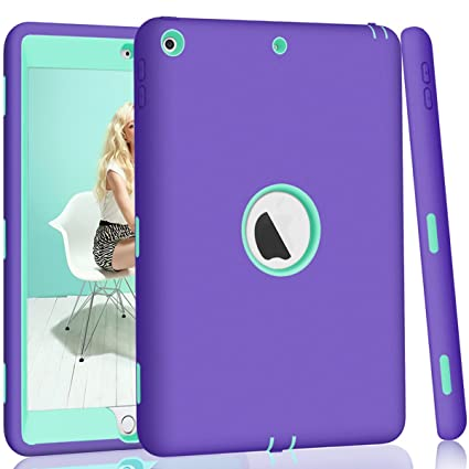 Hocase iPad 5th/6th Generation Case, iPad 9.7 2018/2017 Case, High-Impact Shock Absorbent Dual Layer Silicone+Hard PC Bumper Protective Case for iPad ...