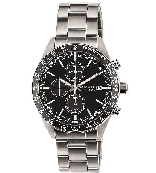 TRIBE Reloj BY BREIL FAST Hombre Acero inoxidable Cronógrafo Negro - EW0322
