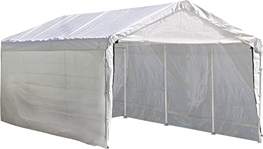 Amazon Com Shelterlogic Supermax 2 In 1 Heavy Duty Steel Frame Quick And Easy Set Up Canopy With Enclosure Kit 10 X 20 Sports Outdoors