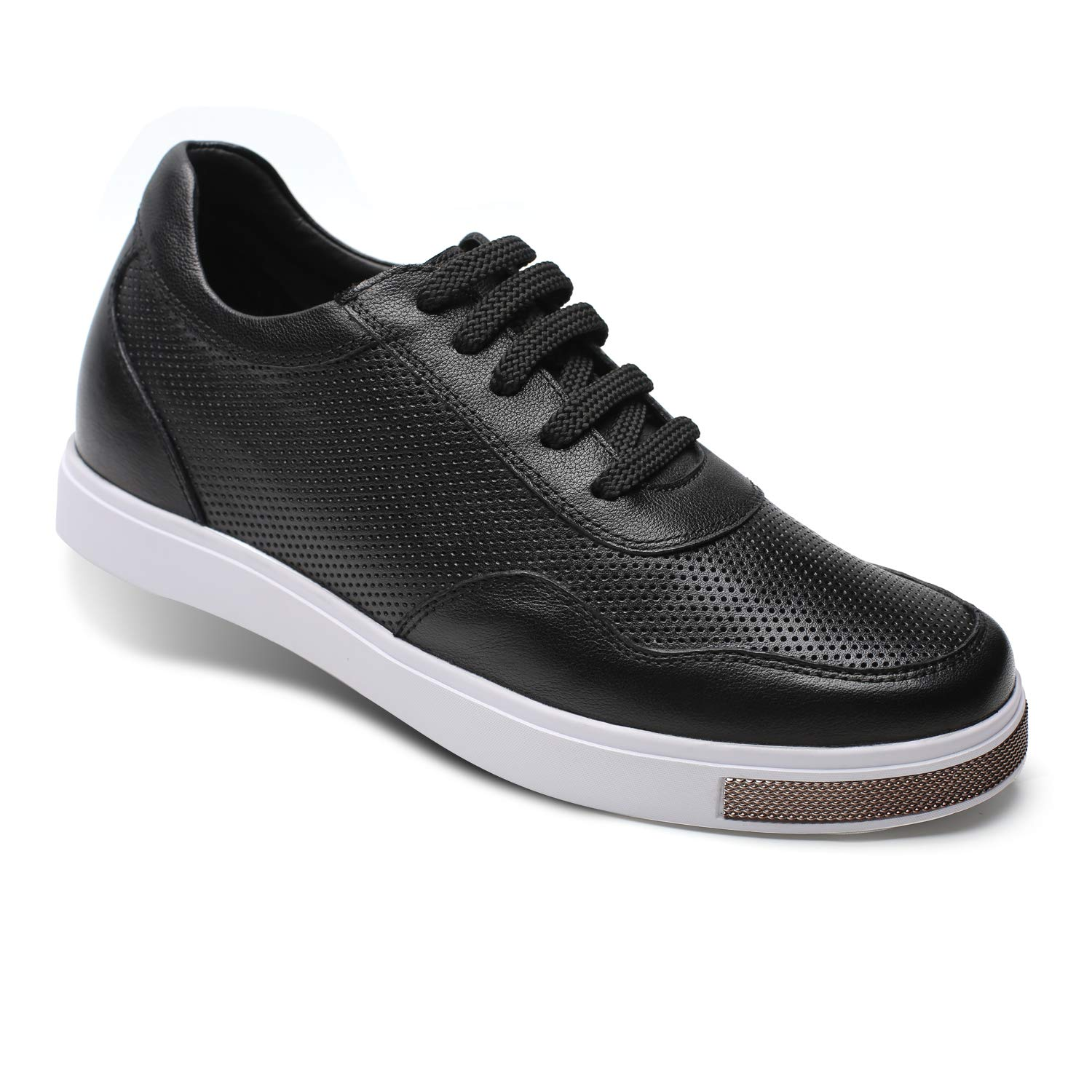 CHAMARIPA Mens Invisible Height Increasing Elevator Shoes-Breathable Mesh Leather Sneakers-2.36 Inches Taller H71C26K175D