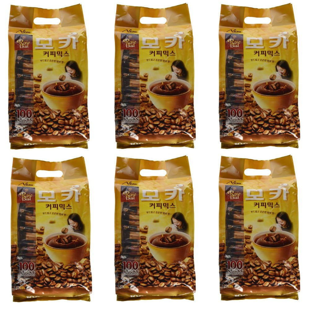 Rosebud Mocha Coffee Mix (12g x 100 sticks) - Pack of 6