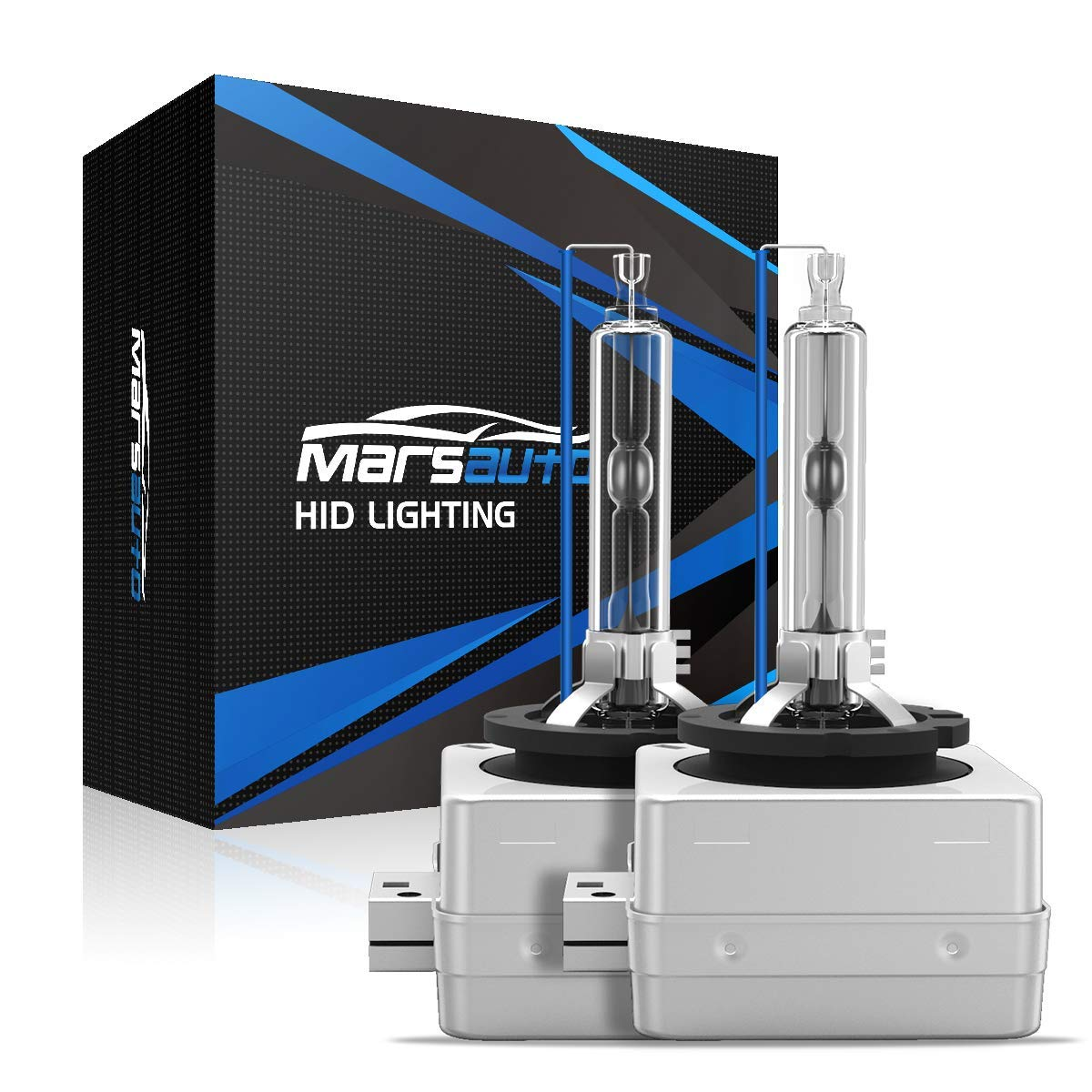 Marsauto D1S Xenon HID Headlights Bulb 2 Pack Diamond White 6000K 35W Super Bright Direct Replacement Bulb with Gloves