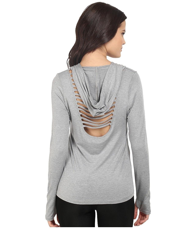 Trina Turk Womens Jersey Long Sleeve Hooded Top