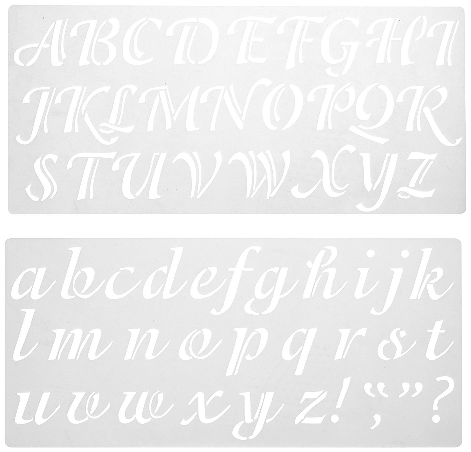 amazon com darice 121724 calligraphy font upper and lower case