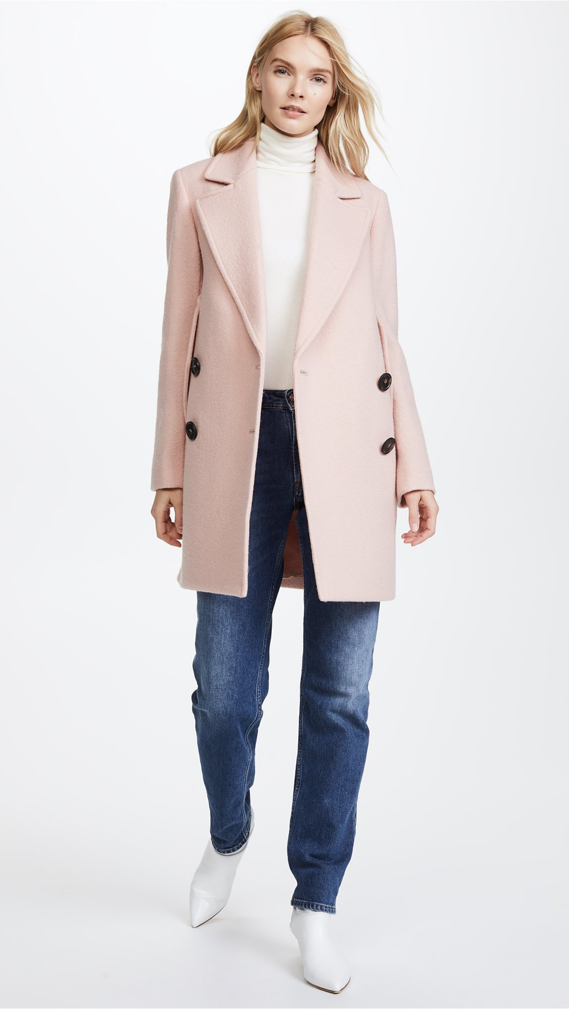 Theory Women's Cape Coat, Chalk Pink, S by Theory (Image #5)