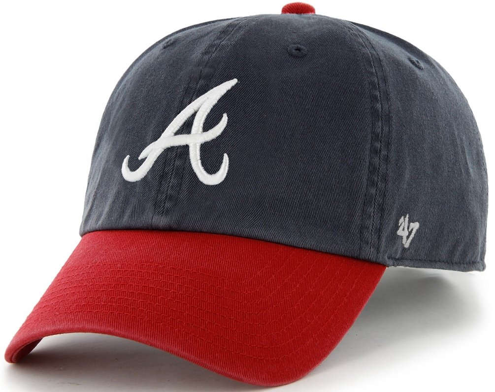 e34f94d4ee3 Amazon.com    47 Brand Atlanta Braves Navy Blue-Red Cleanup Adjustable Hat    Baseball Caps   Sports   Outdoors