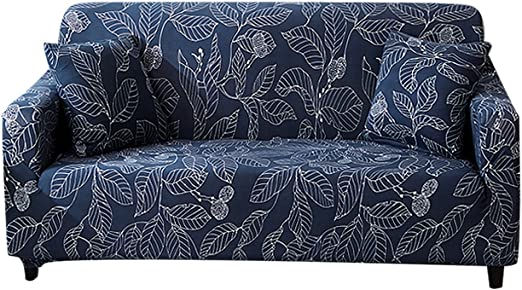 FORCHEER Sofa Slipcover Leather Couch Cover Loveseat and Arm Chair Printed Fabric