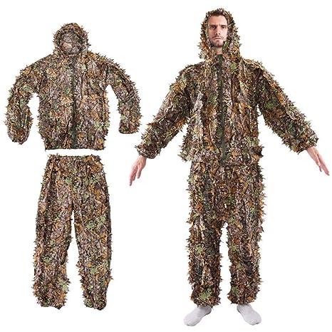 Amazon com : Leaf Ghillie Suit Woodland Camo Camouflage