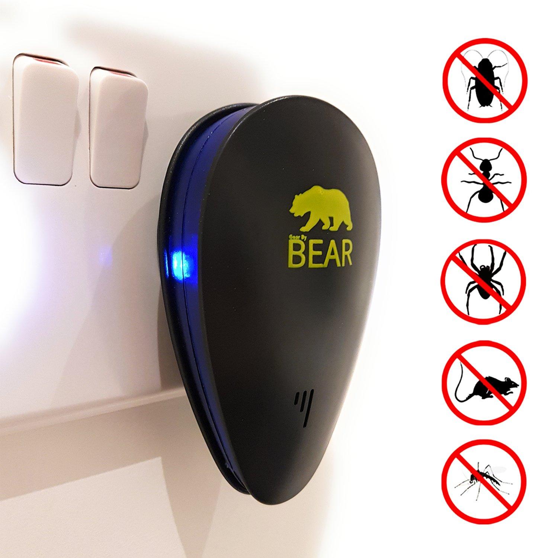 cimici sicura per gli esseri umani e animali BearPEST Ultrasuoni Repeller Pest Control elettronico Plug in interni Pest repellente per mouse scarafaggi UK ragni atossici ecologici zanzare