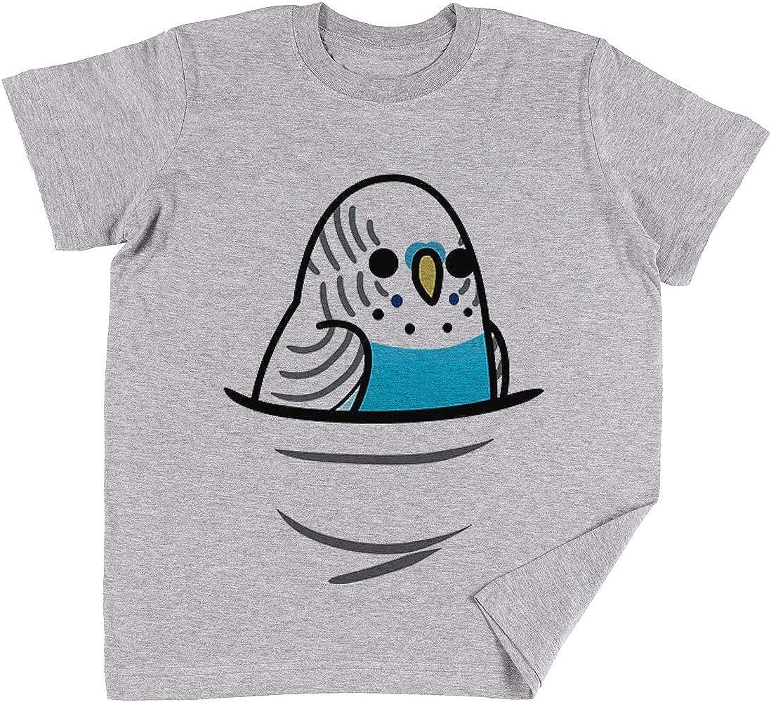 Vendax También Muchos ¡Aves! - Azul Periquito Niños Chicos Chicas Unisexo Camiseta Gris: Amazon.es: Ropa y accesorios