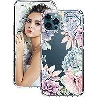 1Anberi Beschermhoes voor iPhone 12 Pro, bloemen, telefoonhoes, ultradunne siliconen anti-kras, beschermhoes…