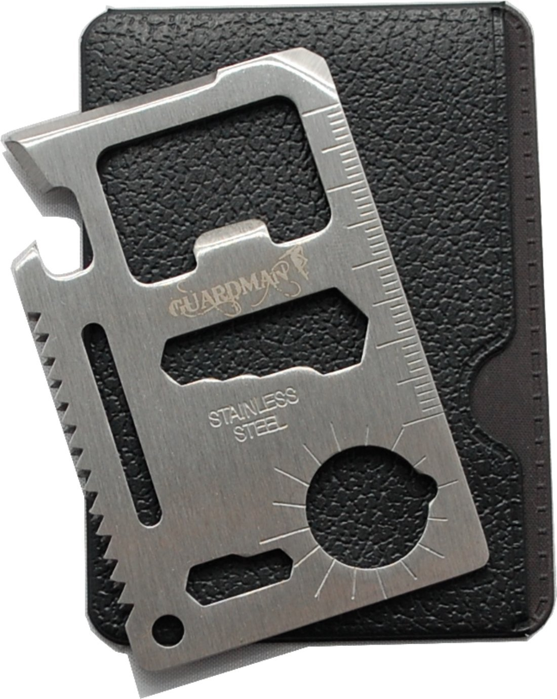 Guardman 11 in 1 Beer Opener Survival Credit Card Tool Fits Perfect in Your Wallet (1) Stocking Stuffers for Him Christmas Gifts for Him