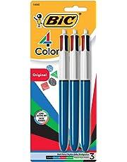 BIC Assorted Ink MMP31-ASST 4-Color Ball Pens, Medium Point, 3 Pack