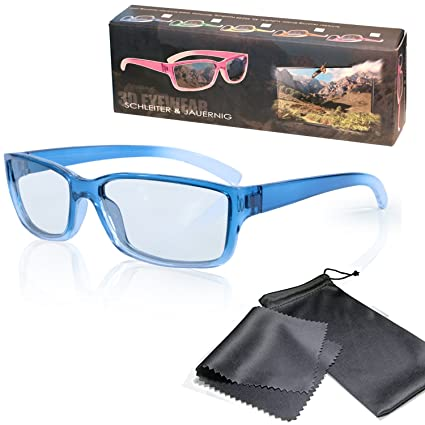 Gafas 3D para niños pasivo para RealD - Azul-transparente - Compatible con Cinema 3D