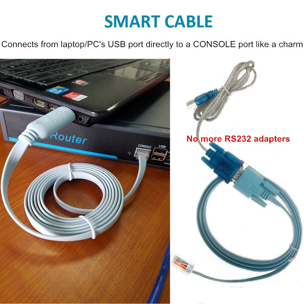Usb Console Cable To Rj45 Essential Accesory Diagram Also Of Ipad Pinout On Serial Port Wiring Cisco Netgear Ubiquity Linksys Tp Link Routers Switches For Laptops In Windows