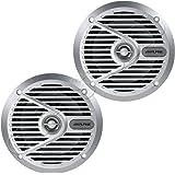 "Alpine SPS-M601 110W 6-1/2"" 6.5"" 2-Way Type-S Marine Coaxial Speakers - Silver"