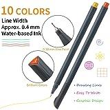 MyLifeUNIT Fineliner Color Pen Set, 0.4mm Colored