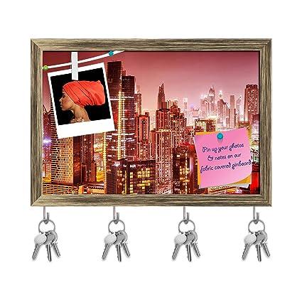 Amazon com: ArtzFolio Dubai at Night, UAE Key Holder Hooks Cum