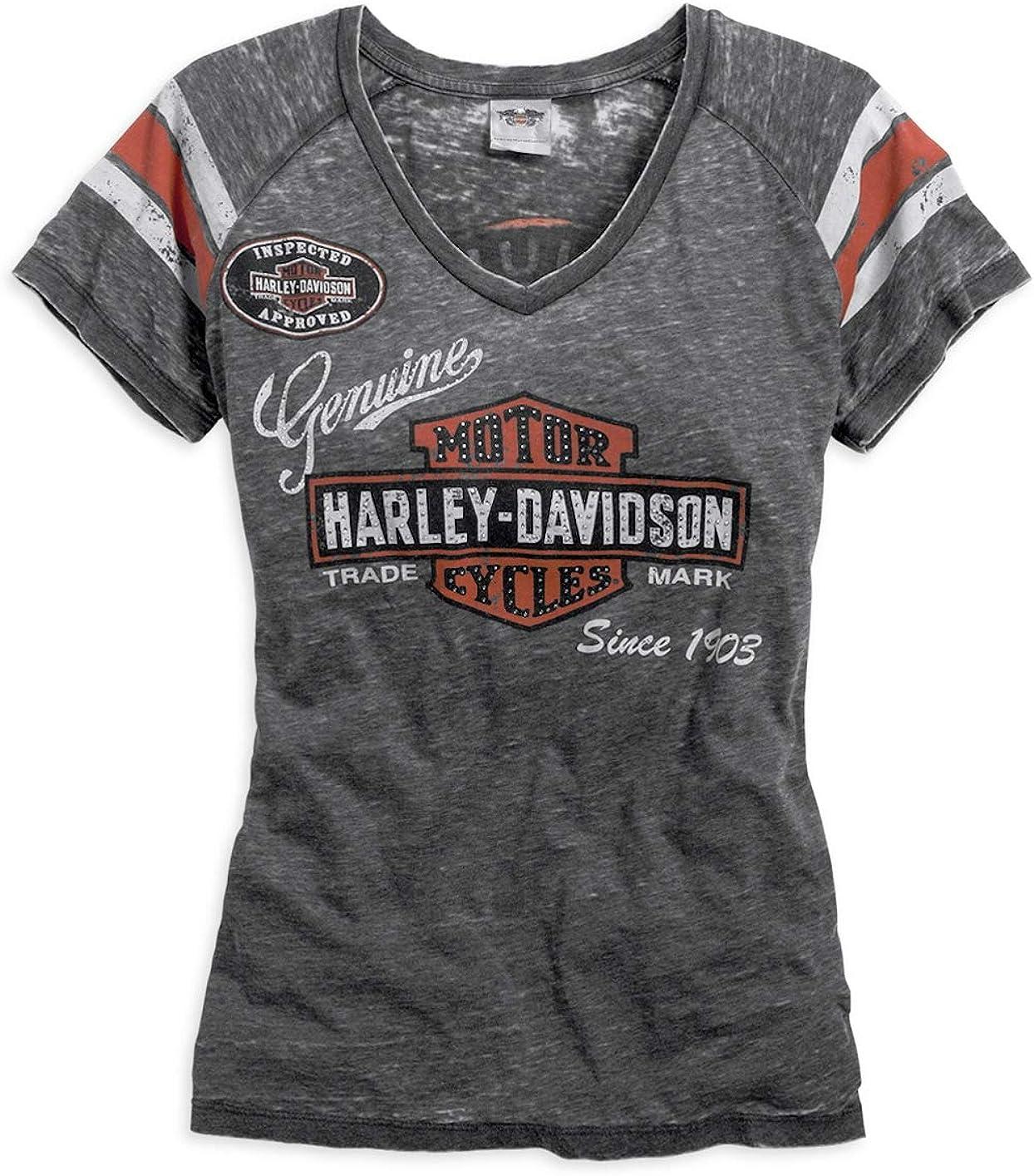 Harley-Davidson - Camiseta para mujer, color gris - Gris - Small: Amazon.es: Ropa y accesorios