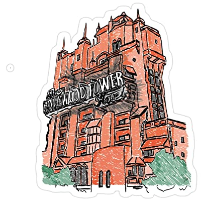 Big Lens store Hollywood Tower! Stickers (3 Pcs/Pack): Kitchen & Dining