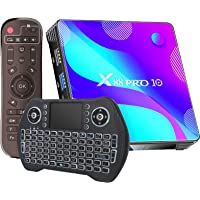 Android TV Box 11.0,2021 Newest Android Box 4GB Ram 32GB ROM RK3318 Quad-Core 64 Bits, 4K UHD Output,Support Dual-WiFi 2…