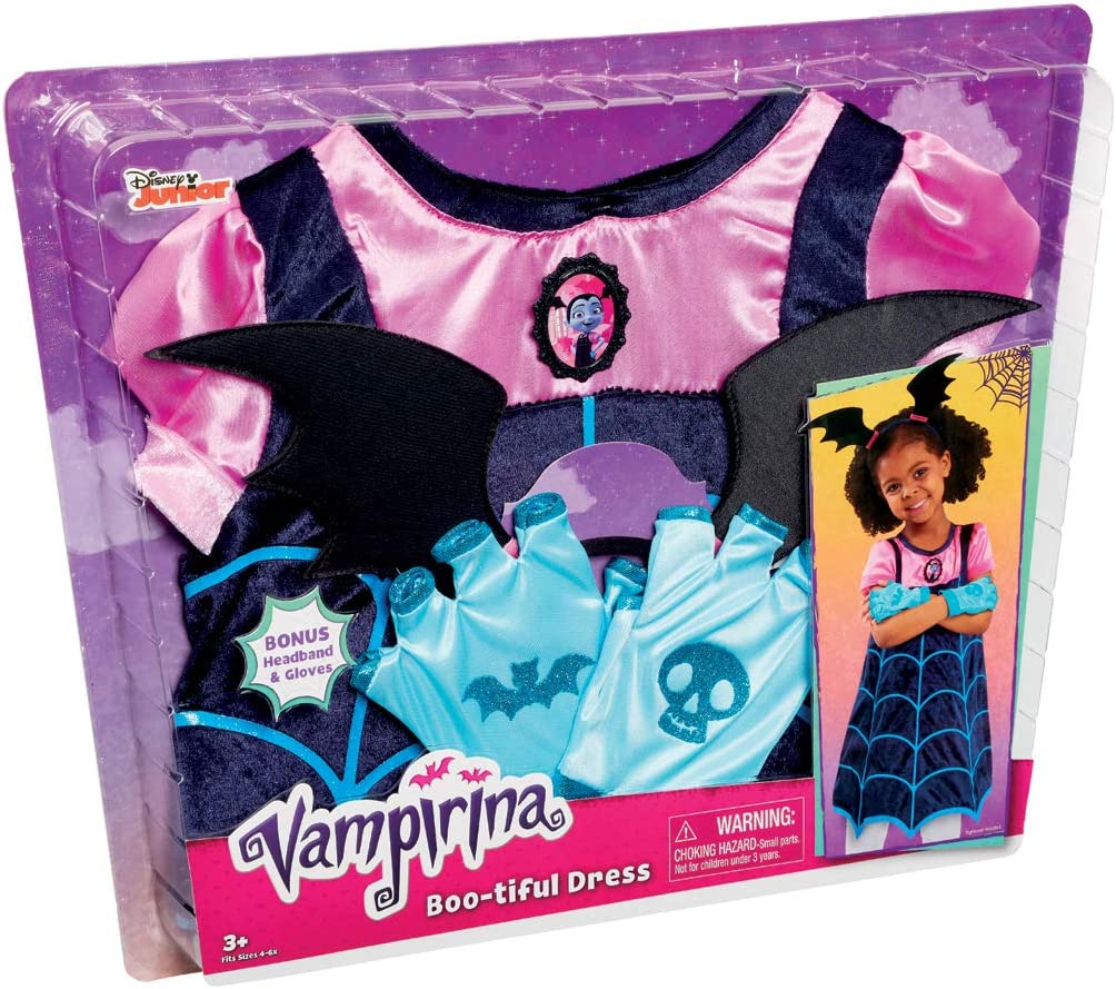Fits sizes 4-6 Just Play Vampirina Boo-Tiful Dress Age 3