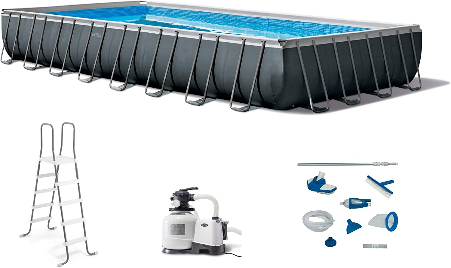 Intex Above ground swimming pool 549x274xh132cm with pump in sand and