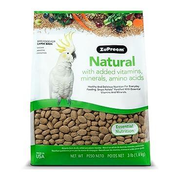 Zupreem Natural Gran Comida para pájaros, Martillo: Amazon.es: Productos para mascotas