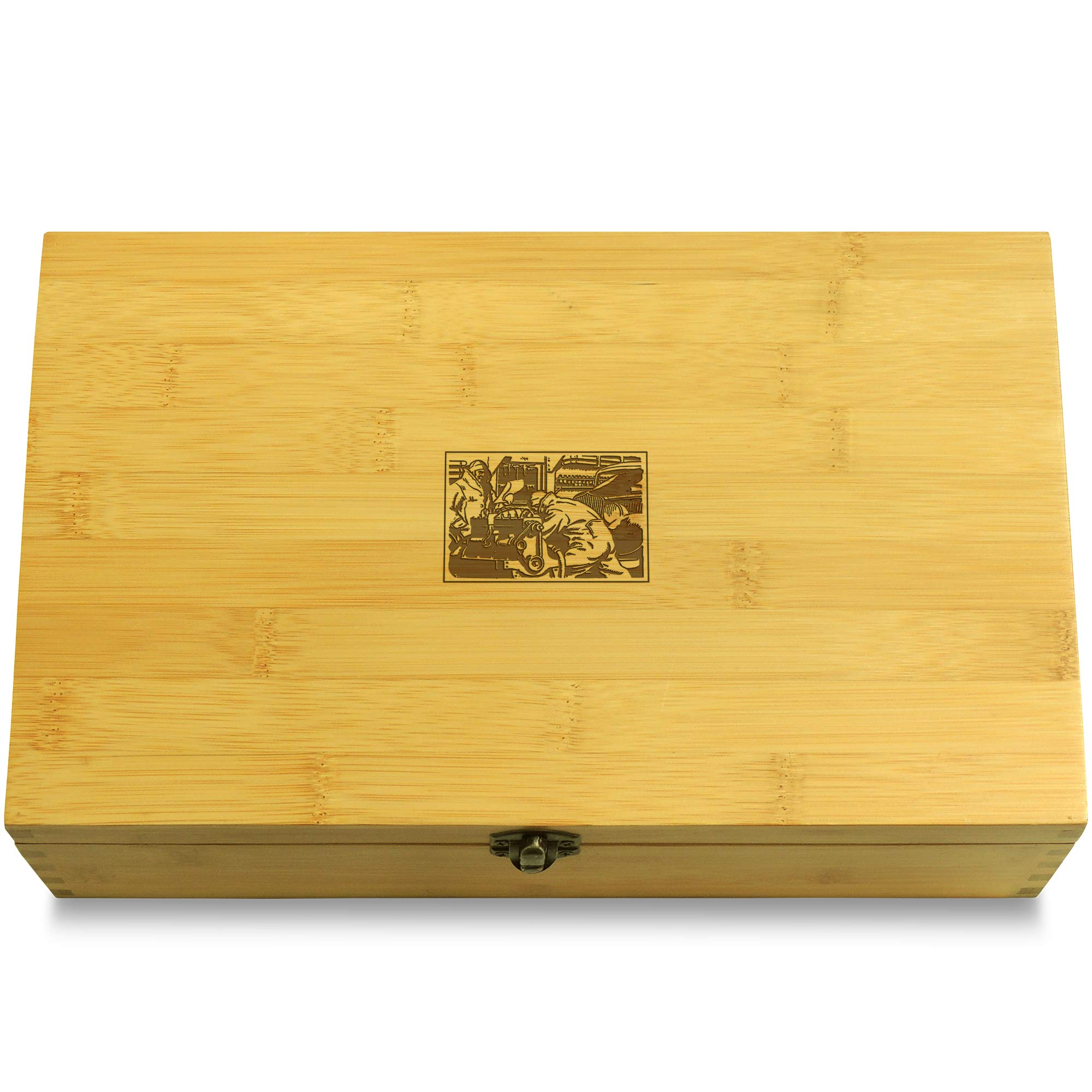 Cookbook People Workshop Car Multikeep Box - Moving Wall Sustainable Bamboo Adjustable Organizer
