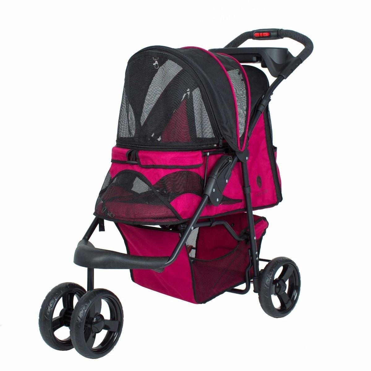 Petique Razzberry Pet Stroller, Razzberry, One Size
